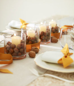 Thanksgiving Centerpieces - Nutty Candles-Christopher Baker