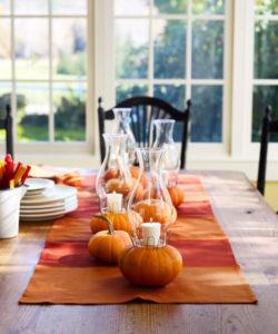 Thanksgiving Centerpieces - pumpkin candlesticks-James bairgrie